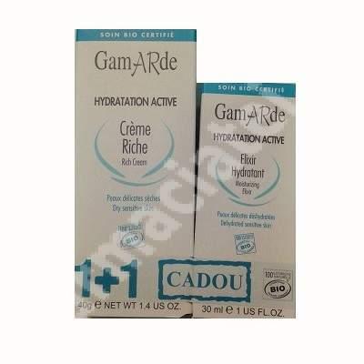 Pachet  Crema elixir pentru ten, 30 ml + Crema cu acid hialuronic, 40 g, Gamarde