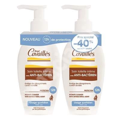 Pachet gel pentru igiena intima cu efect antibacterian, 200 + 200 ml, Roge Cavailles