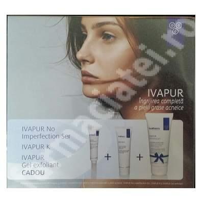 Pachet ingrijire completa a pielii grase acneice Ivapur, Ivatherm
