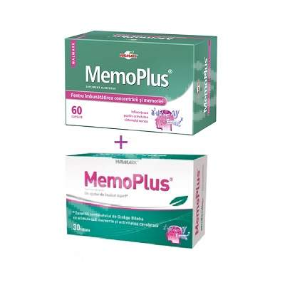 Pachet MemoPlus, 60 + 30 tablete, Walmark