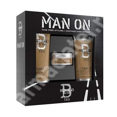 Pachet pentru barbati Bed Head for Men Sampon, 250 ml + Balsam, 200 ml + Ceara, 85 g, Tigi