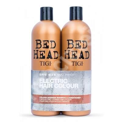 Pachet Sampon + Balsam pentru par vopsit Bed Head Colour Goddess, 750 + 750 ml, Tigi