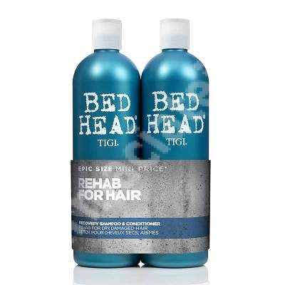Pachet Sampon + Balsam reparator Bed Head Recovery, 750 + 750 ml, Tigi