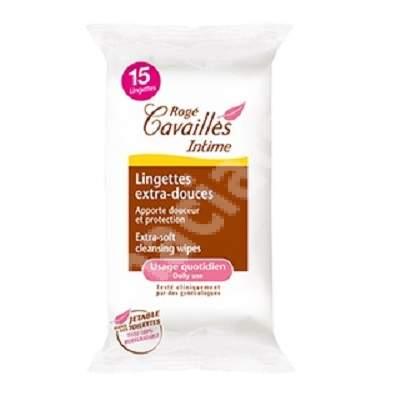 Pachet Servetele extra-delicate pentru zona intima, 15 + 15 bucati, Roge Cavailles