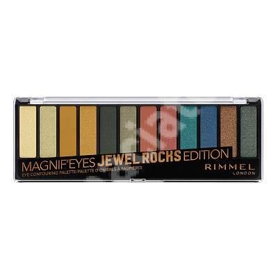 Paleta de farduri pentru pleaope Magnif Eyes 009 Jewel Rocks, 14.16 g, Rimmel London