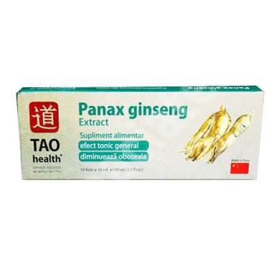 Panax Ginseng, 10 fiole, Tao Health