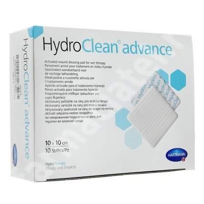 Pansament activat pentru terapia umeda HydroClean Advance 7.5x7.5 cm (609768), 10 bucati, Hartmann