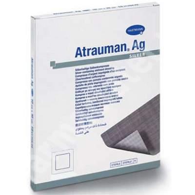 Pansament Atrauman Ag (499571) , 5x5 cm, 10 bucăți, Hartmann
