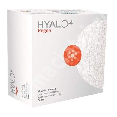 Pansament bioactiv Hyalo4 Regen, 5 bucati 5 x 5 cm, Fidia Farmaceutici