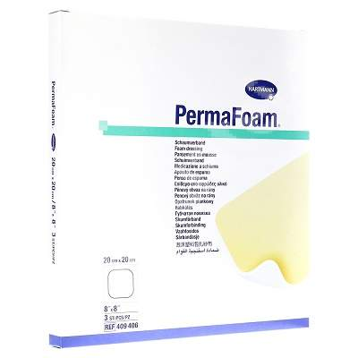 Pansament Permafoam, 20 cm x 20 cm (409406), 3 bucăți, Hartmann