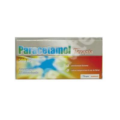 Paracetamol, 500 mg, 20 comprimate, Terapia