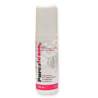 Parasidose spray lotiune cu uleiuri esentiale pentru prevenirea  paduchilor, 100 ml, Gilbert