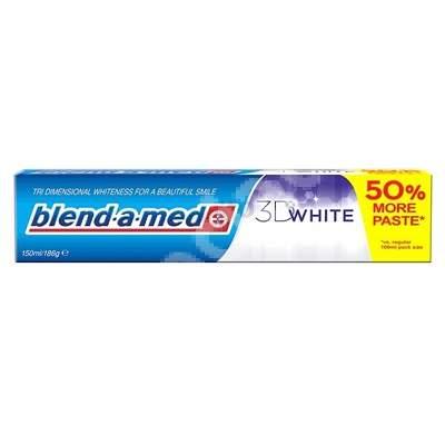 Pastă de dinți, 3D White Blend-a-med, 150 ml, P&G