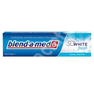 Pastă de dinți - 3D White Fresh Cool Water Blend-a-med, 100 ml, P&G