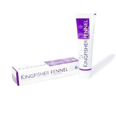 Pastă de dinți naturală cu fenicul fără fluor, 100 ml, Kingfisher