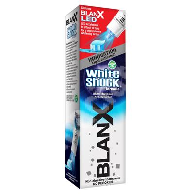 Pastă de dinți pentru albire Blanx White Shock + Blanx LED, 50 ml, Coswell