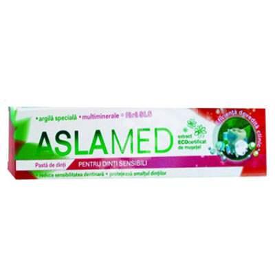 Pastă de dinți pentru dinți sensibili AslaMed, 75 ml, Farmec