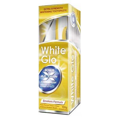 Pastă de dinți White Glo Smokers Formula, 100 ml, Barros Laboratories