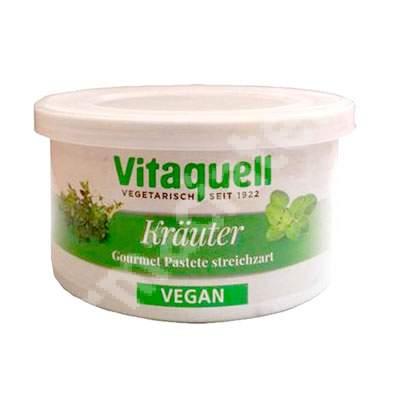 Pate cu ierburi aromatice mediteraneene, 125 g, Vitaquell