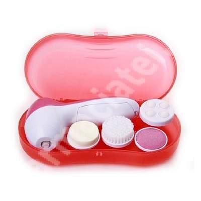 Perie electrica 4 in 1 pentru curatare faciala Pure, Aqua Publis