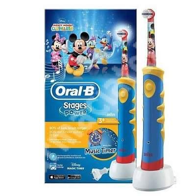 Periuta electrica pentru copii Braun Mickey, D10-513, Oral-B