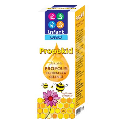 Picaturi de propolis, echinacea si seleniu Propokid, 20ml, Solacium Pharma