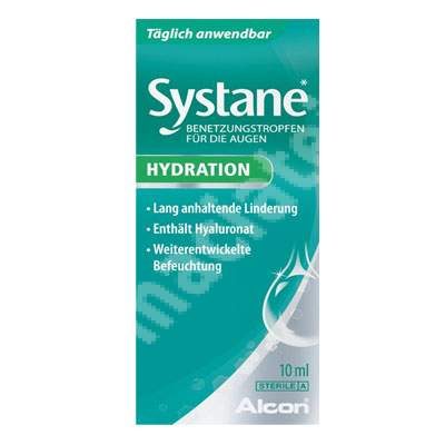 Picaturi oftalmice lubrifiante Systane Hydration, 10 ml, Alcon