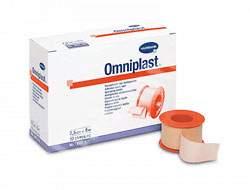 Plasture hipoalergen pe suport textil Omniplast (900440), 1.25cm x 5m, o bucată, Hartmann