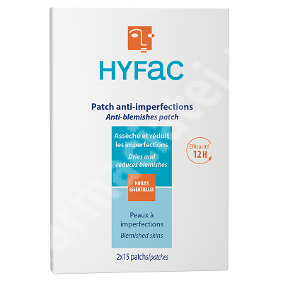 Plasturi Anti-imperfectiuni  HYFac 2 x 15 buc, Moulin Royal Cosmetics