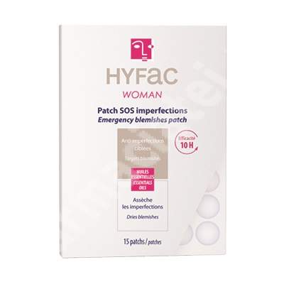 Plasturi anti-imperfectiuni Hyfac woman SOS, 15 bucati, Moulyn Royal Cosmetics