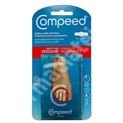 Plasturi basici pentru degete Compeed Blister Toes, 8 bucati, Johnson&Johnson