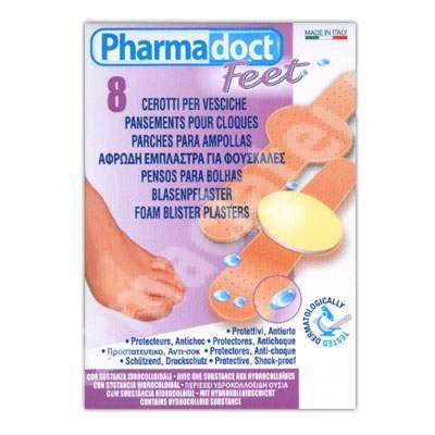 Plasturi hidrocoloid pentru vezicule si bataturi, 8 bucati, Pharmadoct