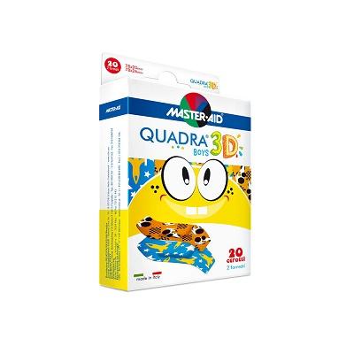 Plasturi pentru copii Quadra 3D Boys Master-Aid, 20 bucăți, Pietrasanta Pharma