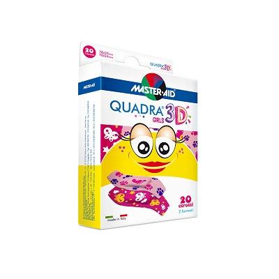 Plasturi pentru copii Quadra 3D Girls Master-Aid, 20 bucăți, Pietrasanta Pharma