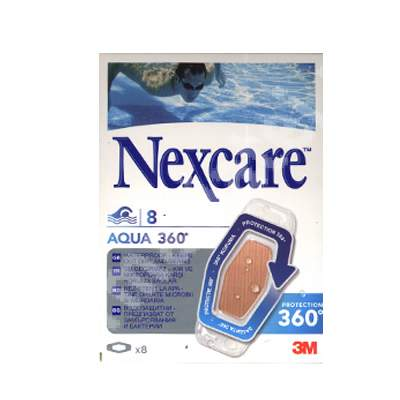 Plasturi rezistenti la apa Aqua 360, 8 plasturi, Nexcare