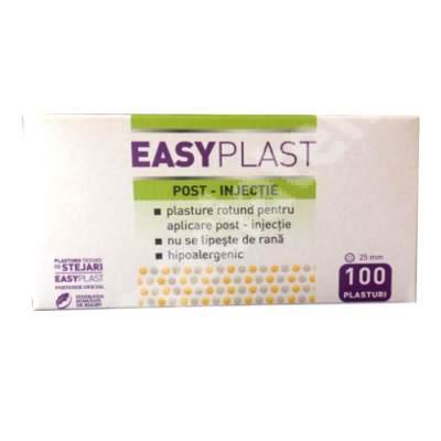 Plasturi rotunzi post injectie, 100 bucati, Easy Plast