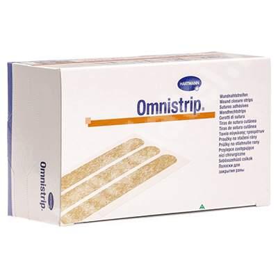 Plasturi sub formă de stripuri sterile Omnistrip (540684), 6x101 mm, 50 bucăți, Hartmann