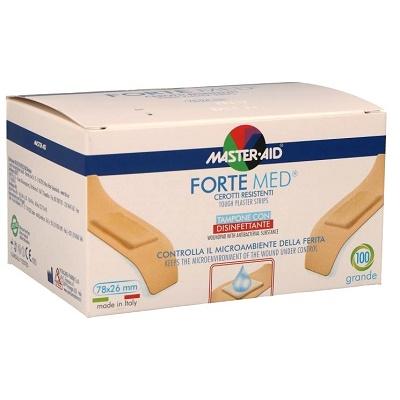 Plasturi ultra rezistenți Forte Med Master-Aid, 78x26 mm, 100 bucăți , Pietrasanta Pharma