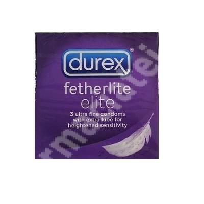 Prezervative Fetherlite Elite, 3 bucati, Durex