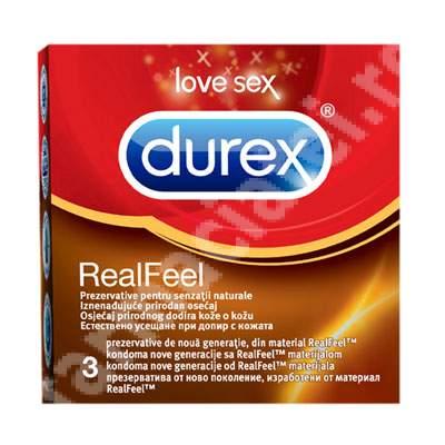Prezervative Real Feel, 3 bucati, Durex