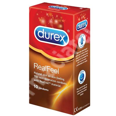 Prezervative RealFeel, 10 bucati, Durex