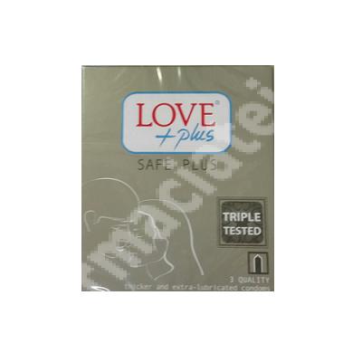 Prezervative Safe Plus, 3 bucati, Love Plus