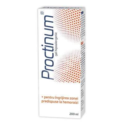 Proctinum gel hipoalergenic pentru igiena ano-rectala, 200 ml, Zdrovit