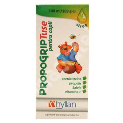 Propogrip Tuse sirop pentru copii, 100 ml, Hyllan