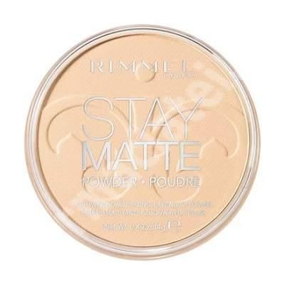 Pudra compacta Stay Matte 001, 14 g, Rimmel London