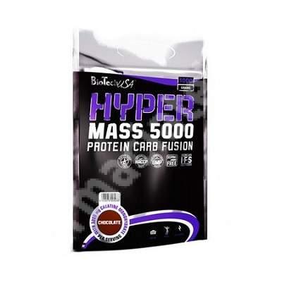 Pudra cu aroma de ciocolata Hyper Mass 5000, 1000 g, BioTechUSA