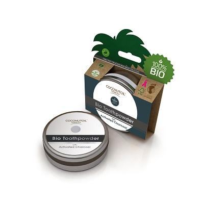 Pudra de dinți cu cărbune activat Bio (ACTO050), 50 ml, Coconutoil