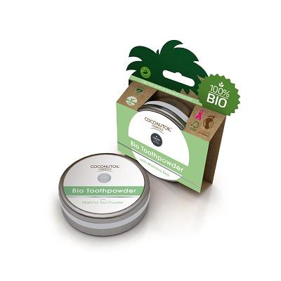 Pudră de dinți cu ceai Matcha Bio (GRTO050), 50 ml, Coconutoil
