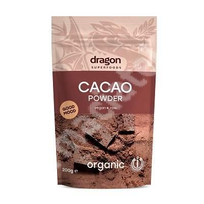 Pudra organica de cacao, 200 g, Dragon Superfoods