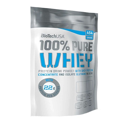 Pudra proteică 100% Pure Whey Cinnamon Roll, 454 g, BioTech USA